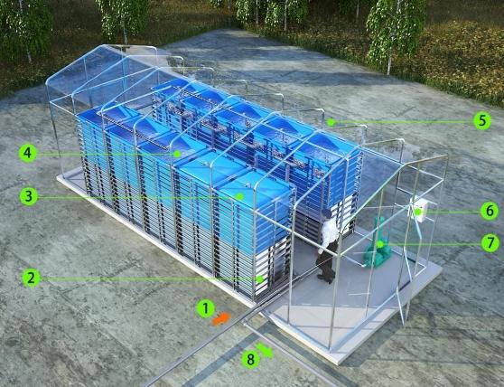 Integrated Membrane Sewage Disposal System img4 mesin biogas